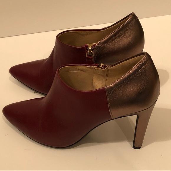 Geox Maroon shooties with heels